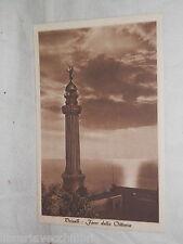 Vecchia cartolina foto d epoca di Trieste faro della vittoria veduta mare