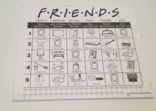 FRIENDS Trivia Game Replacement Parts Score Pad