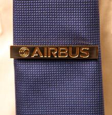 Tiebar Tie Bar Clasp Clip Bar AIRBUS Company GOLD