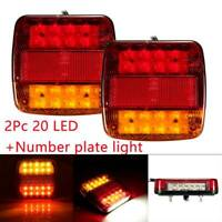 Pair 12V 20 LED TRAILER REAR TAIL LIGHTS MULTI-FUNCTION CARAVAN TRUCK VAN LAMP