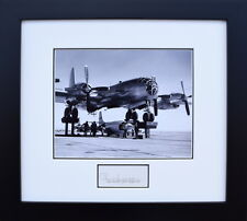 BELL X-1 WITH B-29 MOTHERSHIP - W/ YEAGER SIGNATURE - Framed Photograph