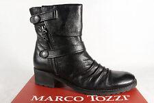 Marco Tozzi Damen Stiefel Stiefeletten Stiefelette Echtleder schwarz NEU!