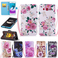 PU Leather Case Cover Flip Folding Stand Card Wallet For Samsung iPhone Huawei