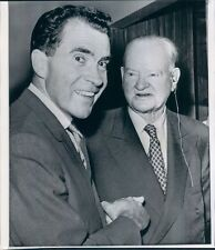 1960 Press Photo President Herbert Hoover With Vice Pres Richard Nixon