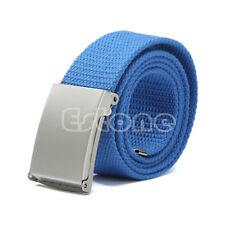 Fashion Men's Boys' Unisex Casual Plain Webbing Waist Belt Waistband Canvas Belt