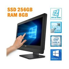 """PC COMPUTER FISSO AIO ALL IN ONE DELL 3030 19,5"""" TOUCHSCREEN I5 8GB SSD 256GB-"""