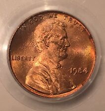 1984 Lincoln Doubled Ear Double Die Penny MS65 RED #10426