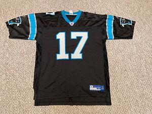 Vtg Reebok Jake Delhomme #17 Carolina Panthers Jersey Mens Adult XL Black