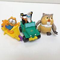 "3 McDonald's Happy Meal Mack Tonight, Garfield & Bambi's Owl, Toys Tallest 3"""