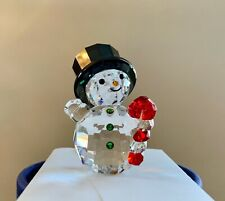 SWAROVSKI SNOWMAN WITH CANDY CANE 2019 HOLIDAY XMAS FIGURINE CRYSTAL 5464886