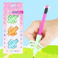 3Pcs Children Pencil Holder Pen Writing Aid Grip Posture Correction Tools G9C