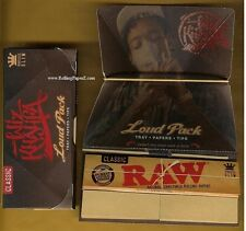 2 PACKS Wiz Khalifa 'Loud Pack' King Size Raw Artesano King Size Rolling Papers