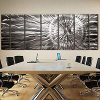 Large Modern Abstract Silver Corporate Metal Wall Art Decor Sculpture-Photon XL