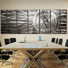 Large Modern Abstract Silver Corporate Metal Wall Art Decor Sculpture-Photon XL