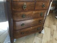 Regency 1811-20 Scottish Mahogany Bow-Fronted Chest Of Drawers COLLECTION ONLY