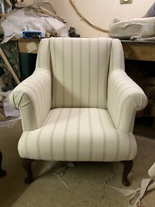 Quality Handmade / Fireside  Chairs Laura Ashley Styl Brampton Steel Stripe