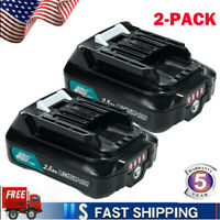 2xFor 2.5ah for Makita BL1021B Max 12V Li-Ion Battery BL1041B BL1016 BL1015B New