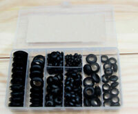 200pcs Rubber Grommet Assortment Set Harness Grommet Electrical Wire Gasket NEW