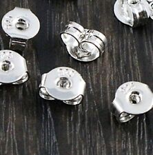 20pc Silver Plated Stud Earrings back plug Caps DIY Ear Rings Stopper Pads UK