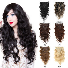 """Brazilian Remy Clip In Body Wave Virgin Remy Human Hair Extensions 16"""" 7pcs/70g"""