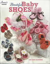 Beautiful Baby Shoes Crochet Instruction Patterns Annie's Attic Booties NEW