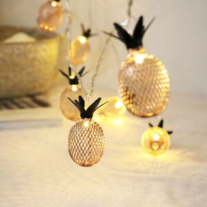 20 LED Pineapple String Lights Fairy Lights for Wedding Party Bedroom Birthday