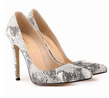 Fashion Womens Pointed Toe Animal Print Pumps Party Stilettos Shoes Plus Sz New