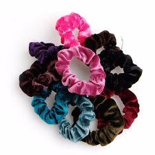 10pcs Women's Hair Band Velvet Elastic Ponytail Tie Bow Rubber Bobbles Lovely