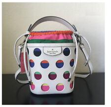 ❤️NWT KATE SPADE Small Bucket Bag Pippa Perf Dot Purse messenger shoulder bag
