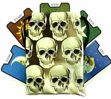 Skull Tarot bag, Wicca, Witchcraft, Wiccan, Gift, Gothic, Goth, Cards