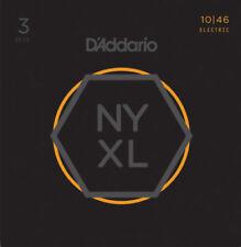 3 Pack d'Addario NYXL Nickel Wound Regular LIGERAS Cuerdas nyxl1046-3p 10-46