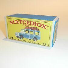 Matchbox Lesney 12 c Land Rover Safari empty Repro E style Box