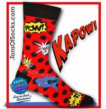Men's KAPOW! Comic Book Socks