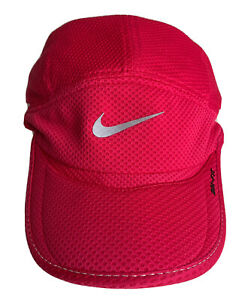 Nike Lightweight  Dri Fit Adjustable Pink Baseball Cap Hook And Loop