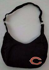 "CHICAGO BEARS Handbag Purse Bag NFL Black Orange C 12"" Strap Drop 12"" x 8"" Fan"