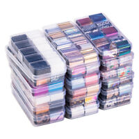 10Pcs/Box Holographic Nail Foils Stickers AB Color Nail Art Decals UV Gel Tips