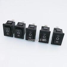 Us Stock 5pcs Black 3 Pin Onoffon Spdt Boat Car Rocker Switch 10a 125vac Kcd1
