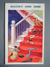R&L Postcard: Reg Maurice, Regent Publishing, Masters Come Home, Dog