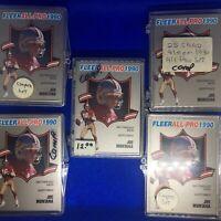 "1990 FLEER FOOTBALL ""ALL-PRO"" COMPLETE SET X5 (1-25)   NM/MT MONTANA/RICE !!"