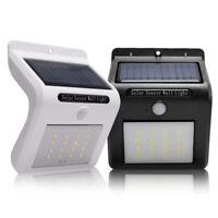 16 LED Solar Power Sensor Wall Light Security Motion Weatherproof Outdoor Lamp