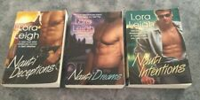 Lora Leigh - Lot Of 3 Books - Nauti Deceptions, Intentions, Dreams