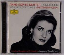 PENDERECKI: Violin Concerto 2, Anne-Sophie Mutter DGG 1998 CD NM