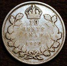 Canada . Silver. 10 Cents 1920 - George V. KM#23