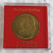 1986 ANDREW & FERGIE ROYAL WEDDING BRONZE PROOF MEDAL - cased