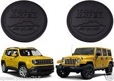 PAIR Black Jeep Trail Rated Emblems Custom Cherokee Wrangler XJ CJ New Free Ship