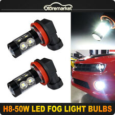 2x H8/H9/H11 White 50W 2835 High Power LED 6000K Headlight Fog Light Bulbs Fit