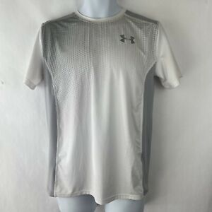Under Armour T Shirt / Youth XL / Loose Fit / White & Gray / HeatGear