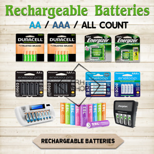 Rechargeable Batteries AA OR AAA 4/8/24 NiMH mAh lot All Purpose Use Charger CA