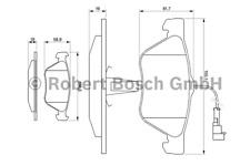Bremsbelagsatz Scheibenbremse - Bosch 0 986 494 004