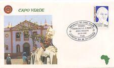 ENVELOPPE VISITE DU PAPE JEAN PAUL II / POSTE VATICANE 1990 CAPO VERDE CAP VERT